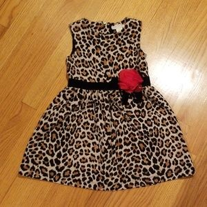 Kate Spade Cheetah Dress with Red Flower Size 5